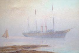 H M YACHT VICTORIA & ALBERT,  SOLENT, 1911