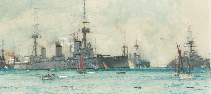 HMS INDEFATIGABLE, HMS NEPTUNE AND HMS THUNDERER A