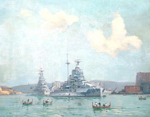 HM SHIPS  QUEEN ELIZABETH, WARSPITE, BERWICK AND