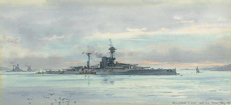 HMS REVENGE  AT SCAPA FLOW, DECEMBER 1918