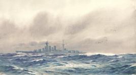 HMS HOOD AT SEA 1923