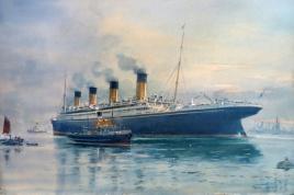 RMS OLYMPIC at Southampton