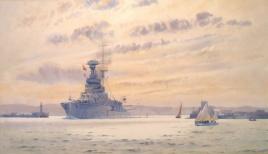 HMS ROYAL SOVEREIGN entering Portland harbour