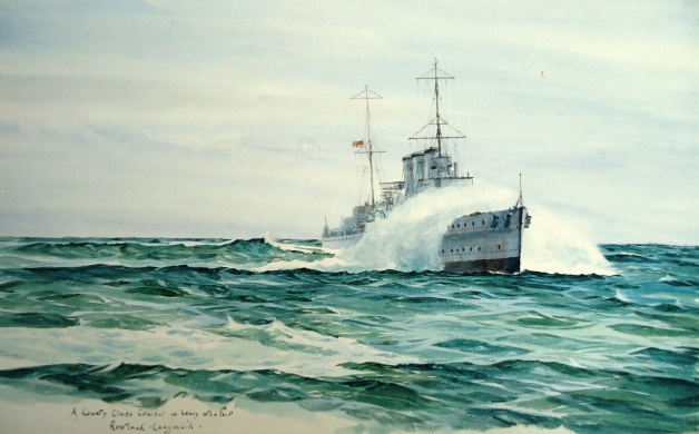 County Class Cruiser in Heavy Weather