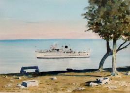 Ton Class minesweeper HMS SEFTON - Cyprus Patrol 1955