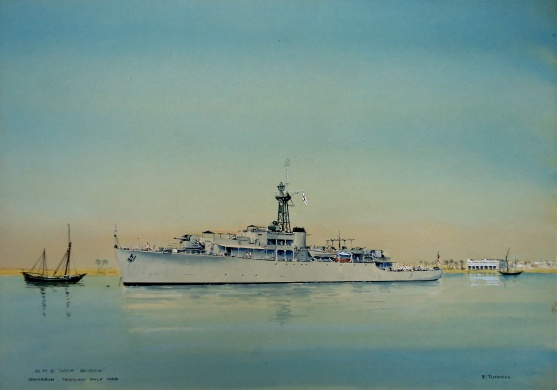 HMS LOCH QUOICH off Bahrein, 1948