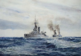 The King's ships were at Sea- battleships of the King George V Class