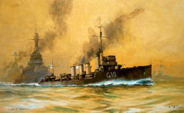 HMS KEMPENFELT with the Grand Fleet
