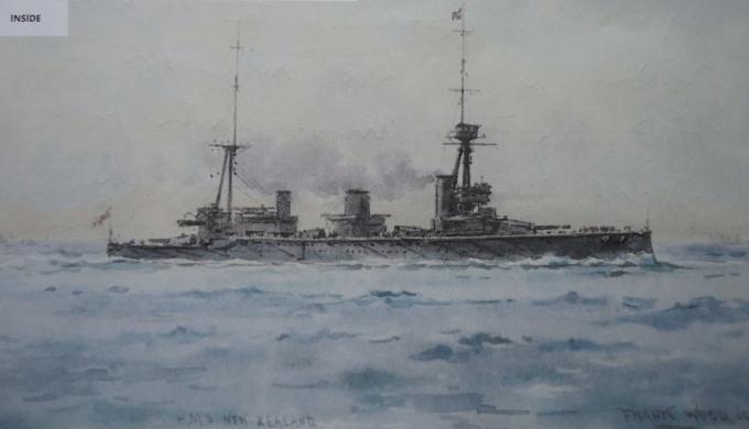 HMS NEW ZEALAND, 1914