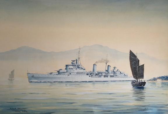 HMS BELFAST, Hong Kong; early 1950s