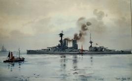 HMS CANADA at Scapa, 1918
