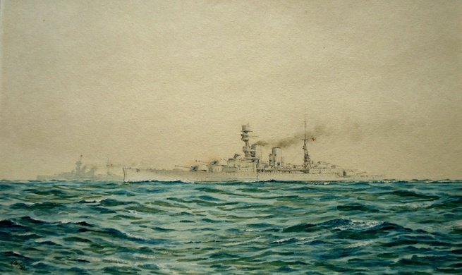 Battle cruisers in the Mediterranean - HMS REPULSE and RENOWN