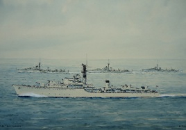HMS BATTLEAXE leader of the 6th Destroyer Squadron, 1950s