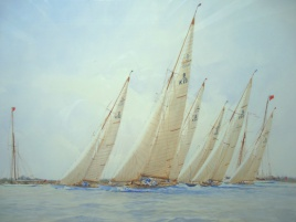 8 metre boats racing: