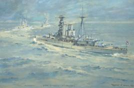 HMS WARSPITE, QUEEN ELIZABETH and VALIANT