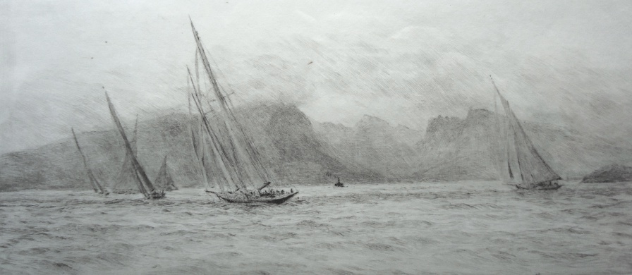 In Scottish Waters - rounding the mark