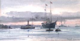 HM Yacht VICTORIA & ALBERT Cowes, August 1911