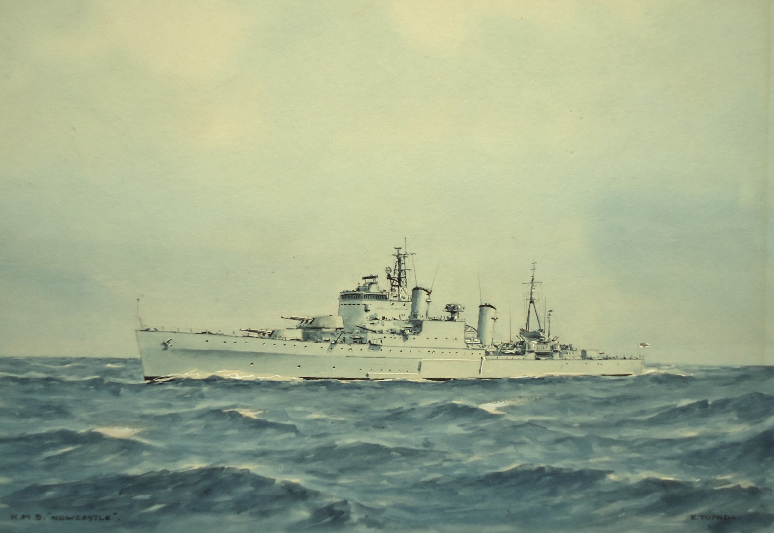 HMS NEWCASTLE - Town Class cruiser