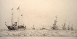 FLEET REVIEW 1935  SILVER JUBILEE: THE KING LEADS THE 1ST BATTLE SQUADRON, MEDITERRANEAN FLEET, TO SEA
