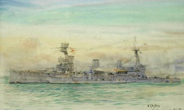 HMS NEW ZEALAND with HMS ONSLOW rafted up alongside