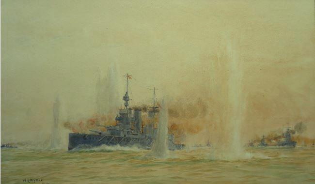 HMS LION under fire