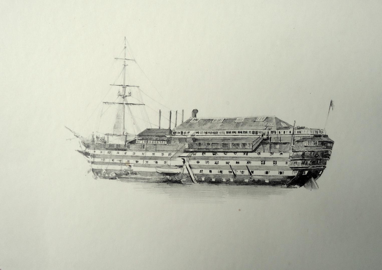 HMS BRITANNIA at Dartmouth - late 1890s