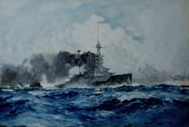Queen Elizabeth class battleship at speed