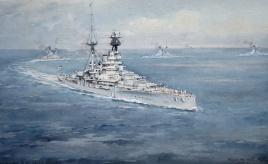 R Class battleships in the Med, 1935