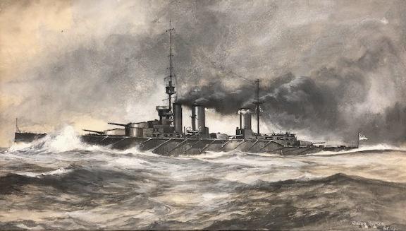HMS LION at speed c.1912