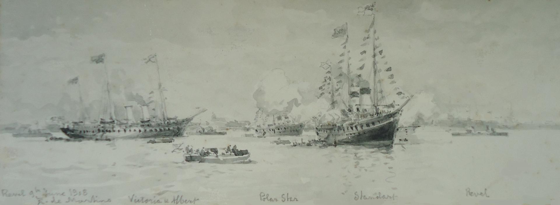 Royal Yacht VICTORIA & ALBERT visits Russia, June 1908