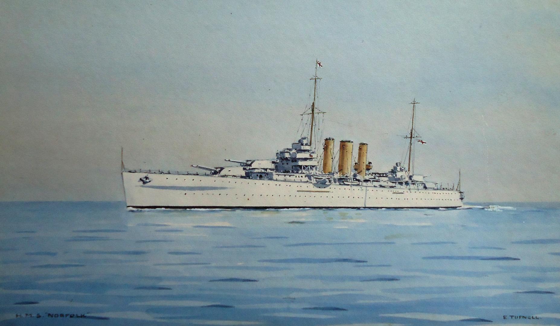 HMS NORFOLK, flagship of C-in-C East Indies, 1937