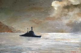 HMS REPULSE, Gulf of Aden, a night in November 1941