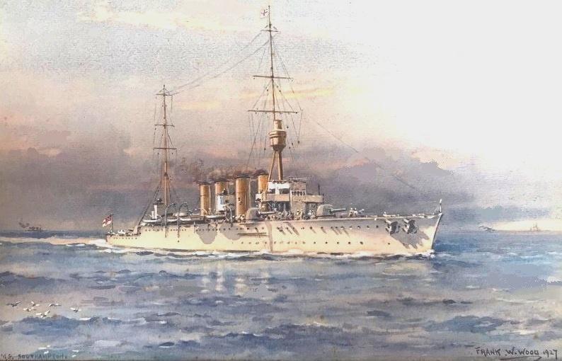 HMS SOUTHAMPTON: China Station, early 1920s