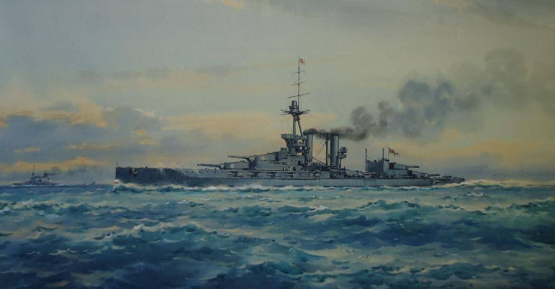 HMS MARLBOROUGH, Vice Admiral Burney's flagship at Jutland.