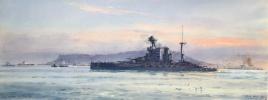 HMS VALIANT leaving Portland,