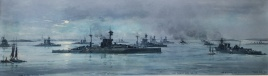 Capital ships of the Grand Fleet at Scapa Flow, December 1918