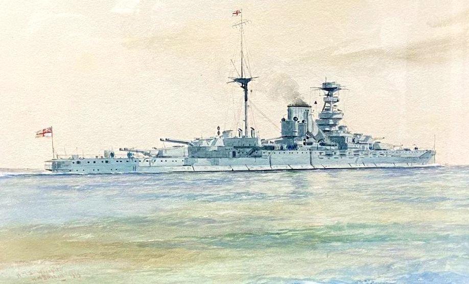 HMS WARSPITE in 1929