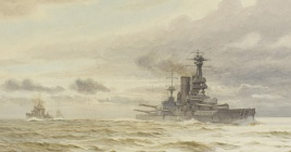 HMS CANADA AT SEA, 1918